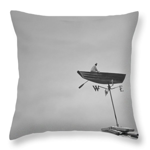 Nantucket Weather Vane Throw Pillow by Charles Harden