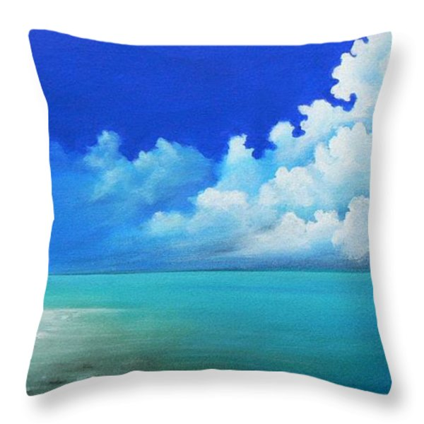 Nap On The Beach Throw Pillow by Susi Galloway