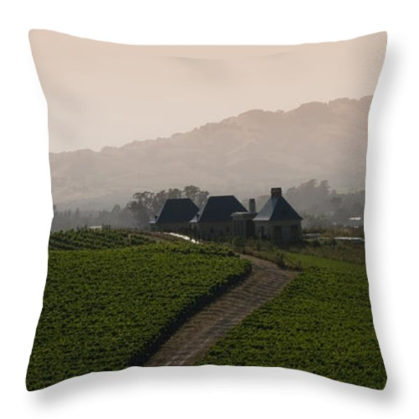 Napa Valley Throw Pillow by Peter Verdnik