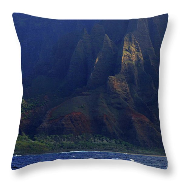 Napali Coast 2 Throw Pillow by Bob Christopher