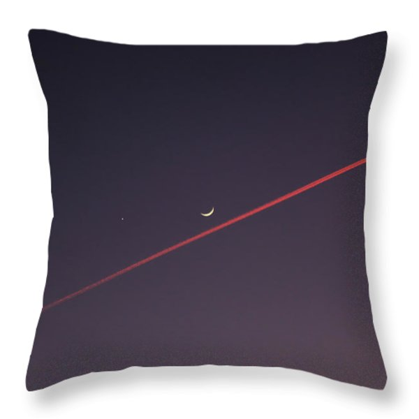 Narrowly missed the Moon Throw Pillow by Jasna Buncic