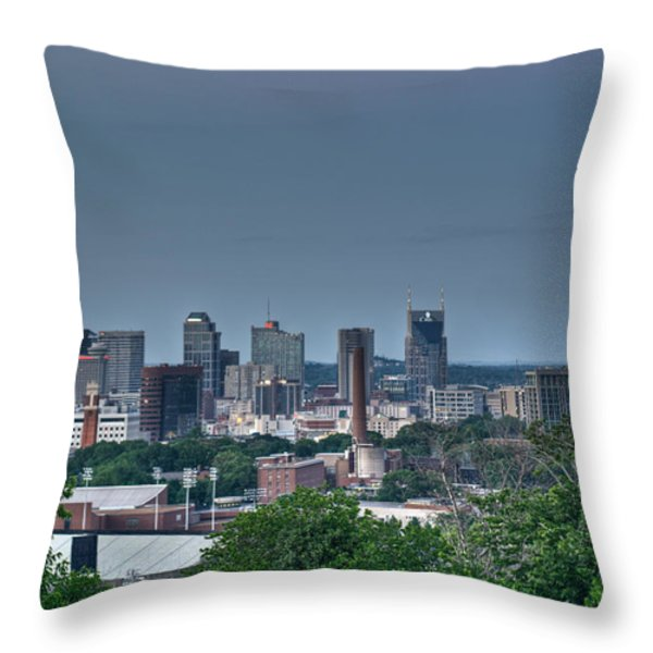 Nashville Skyline 2 Throw Pillow by Douglas Barnett
