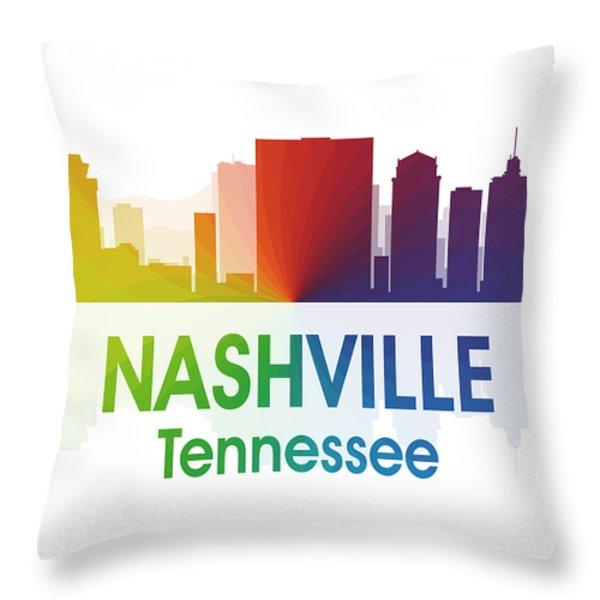 Nashville Tn Throw Pillow by Angelina Vick