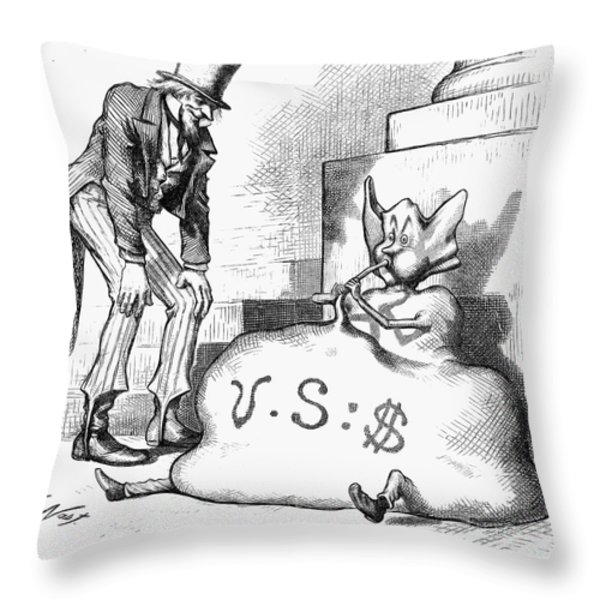 Nast: Inflation, 1873 Throw Pillow by Granger