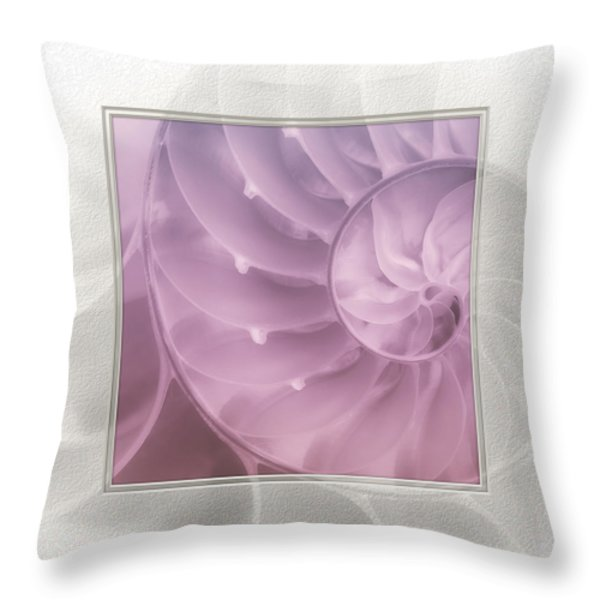 Nautilus Matted Throw Pillow by Tom Mc Nemar