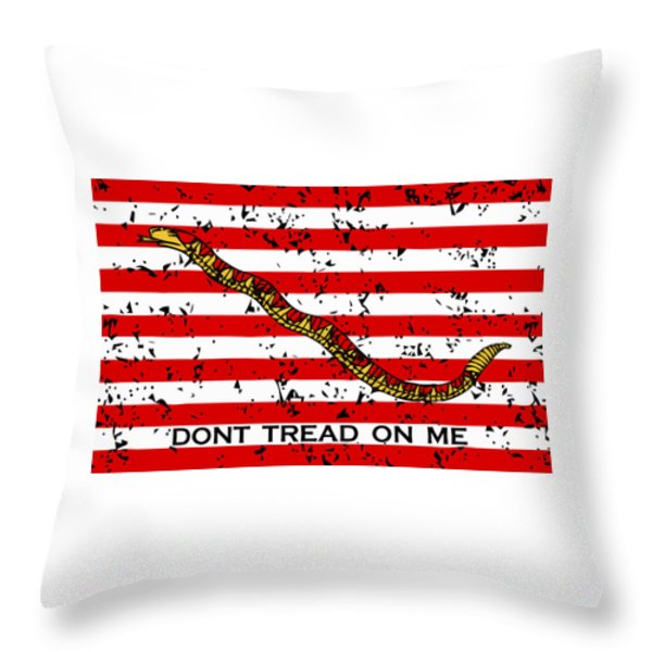 Navy Jack Flag Throw Pillow by War Is Hell Store