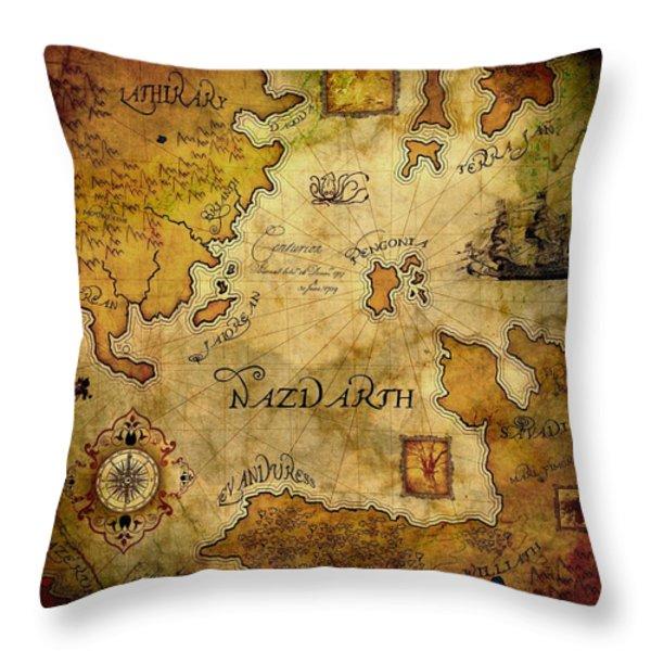 Nazdarth Throw Pillow by Brett Pfister