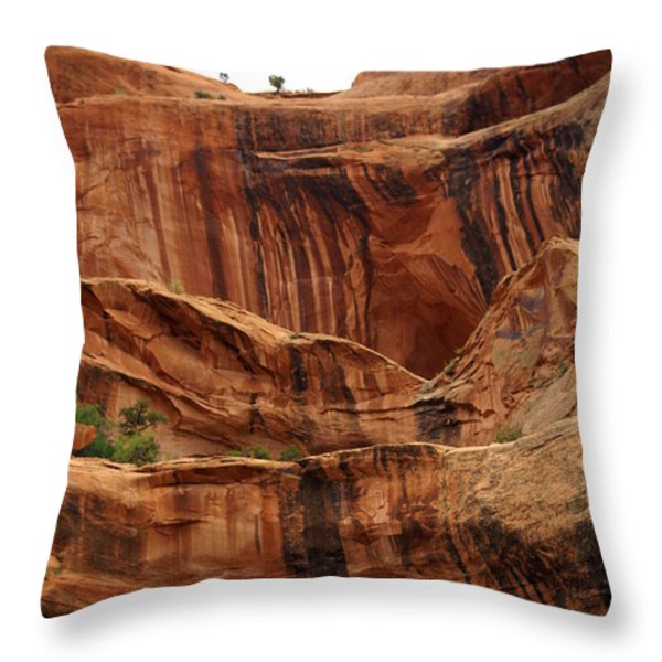 Near Moab 1 Throw Pillow by Marty Koch