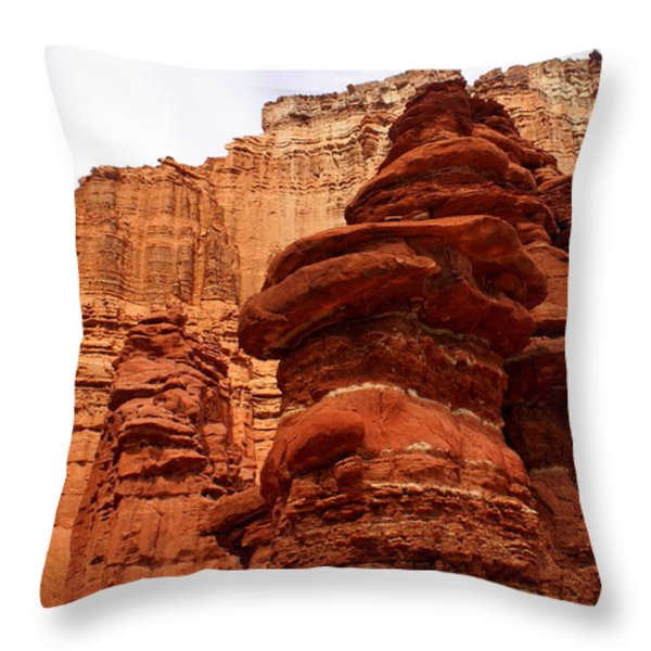 Near Moab 3 Throw Pillow by Marty Koch