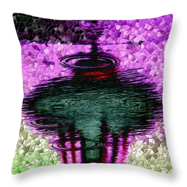 Needle In A Raindrop Stack 3 Throw Pillow by Tim Allen