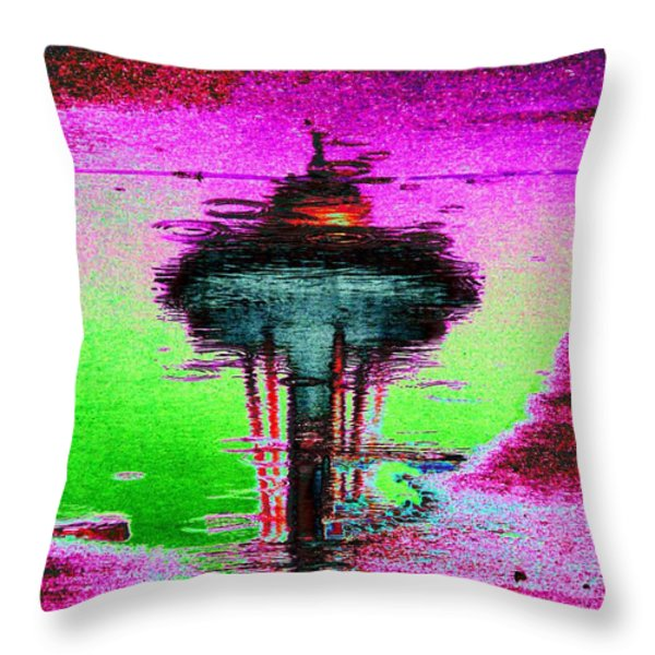 Needle In A Raindrop Stack Throw Pillow by Tim Allen