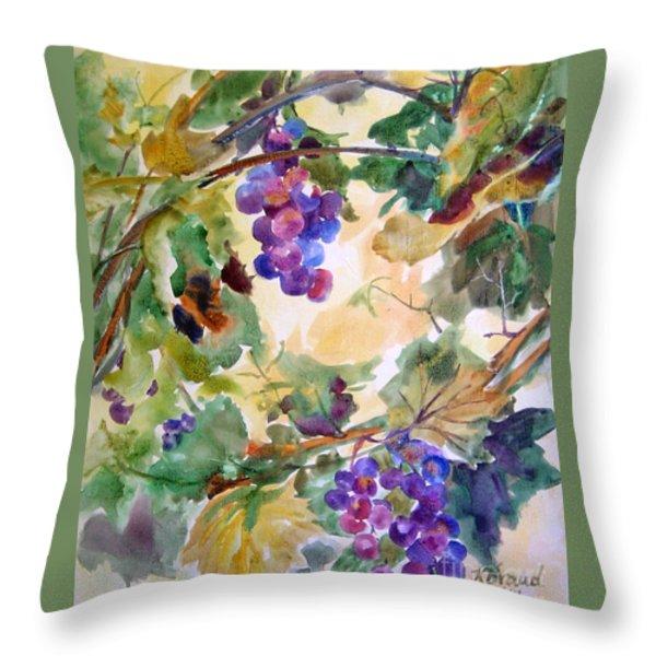 Neighborhood Grapevine Throw Pillow by Kathy Braud