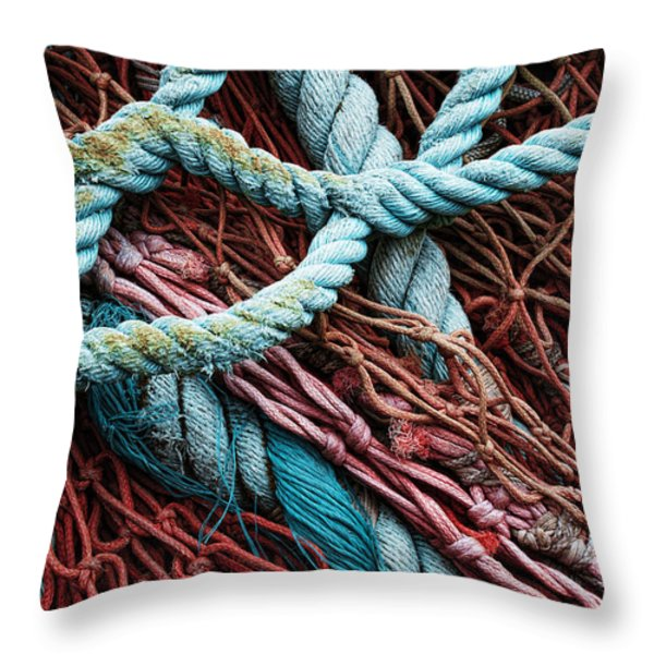 nets and knots number six Throw Pillow by Elena Nosyreva
