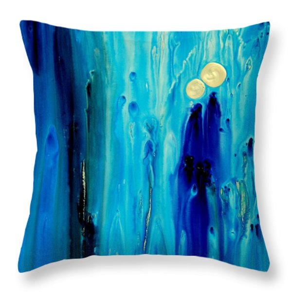 Never Alone Throw Pillow by Sharon Cummings