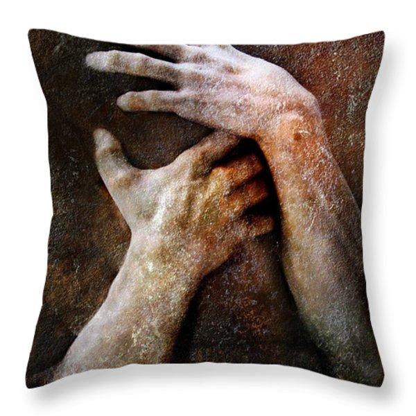 Never Let Go Throw Pillow by Jacky Gerritsen