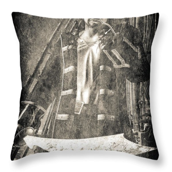 Never Neverland Captain Hook Throw Pillow by Bob Orsillo