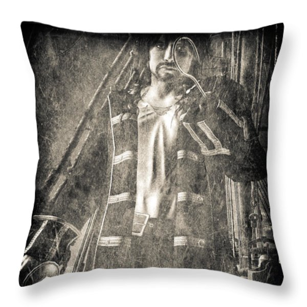 Never Neverland Captain Hook Throw Pillow by Bob Orsillo