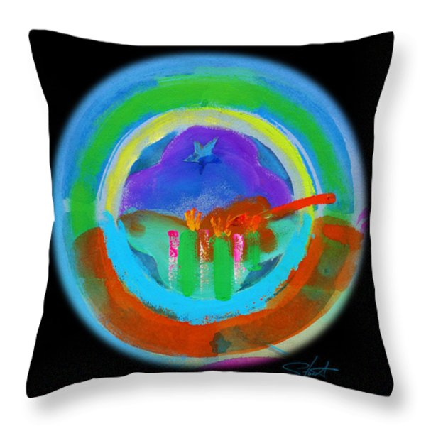 New American Landscape Throw Pillow by Charles Stuart
