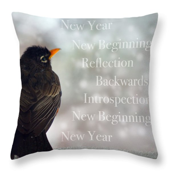 New Years Card Throw Pillow by Lisa Knechtel