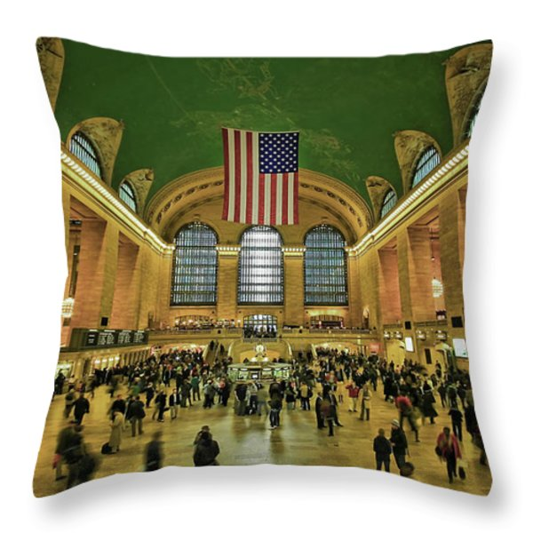 New York Minute Throw Pillow by Evelina Kremsdorf