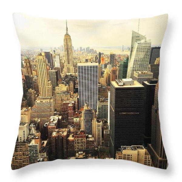 New York Throw Pillow by Svetlana Sewell