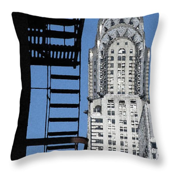 New York Watercolor 3 Throw Pillow by Andrew Fare