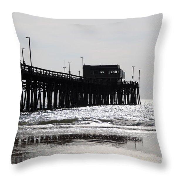 Newport Pier Throw Pillow by Paul Velgos
