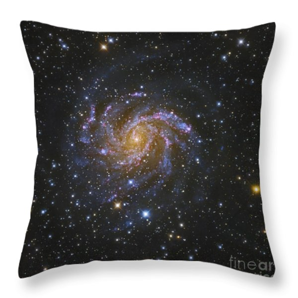 Ngc 6946, Also Known As The Fireworks Throw Pillow by Robert Gendler