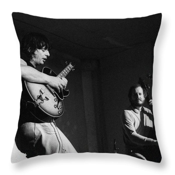 NHOP and Philip Catherine on stage Throw Pillow by Philippe Taka