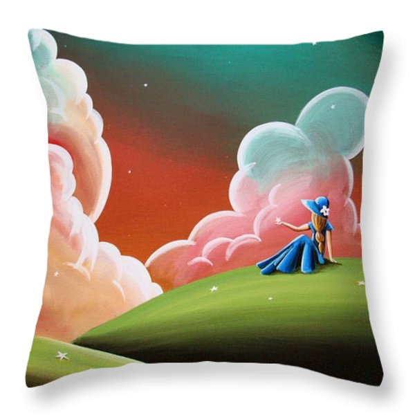 Night Lights Throw Pillow by Cindy Thornton