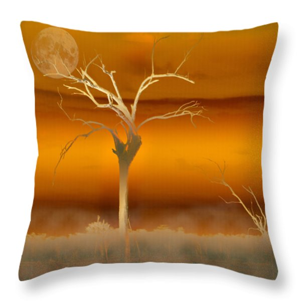 Night Shades Throw Pillow by Holly Kempe