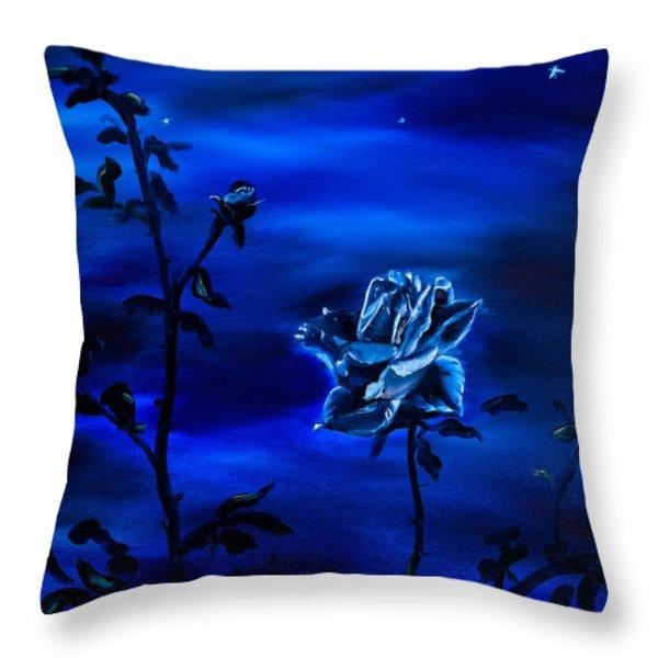 Throw Pillows - Night Stars Throw Pillow by Gina De Gorna