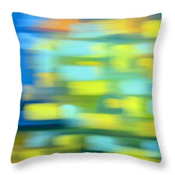 Throw Pillow featuring the painting Night Train Journey by Frank Tschakert