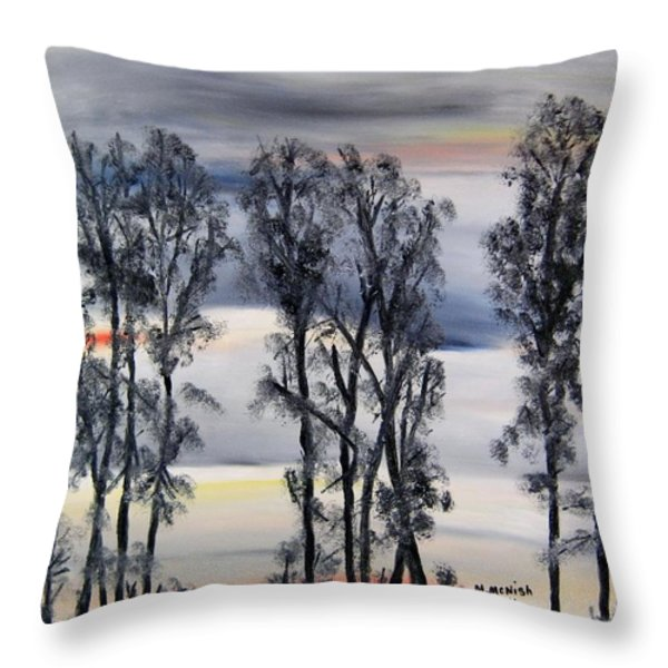 Nightfall Approaching Throw Pillow by Marilyn  McNish