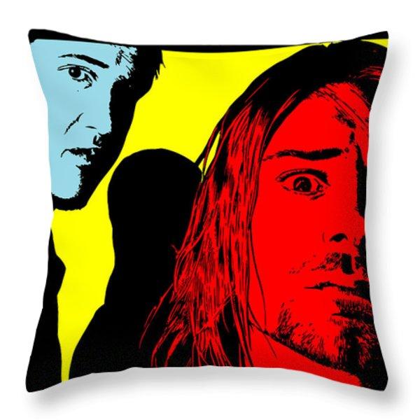 Nirvana No.01 Throw Pillow by Caio Caldas