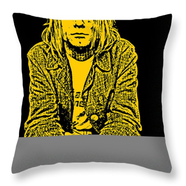 Nirvana No.07 Throw Pillow by Unknow