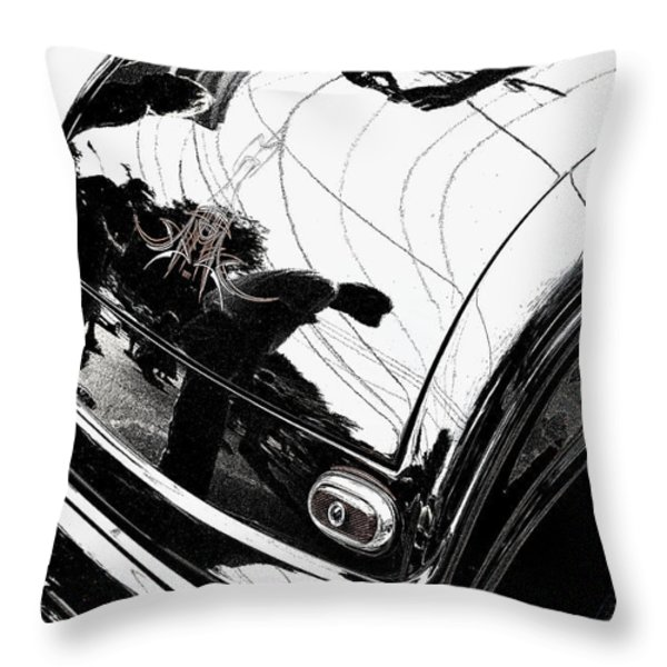 No. 1 Throw Pillow by Luke Moore