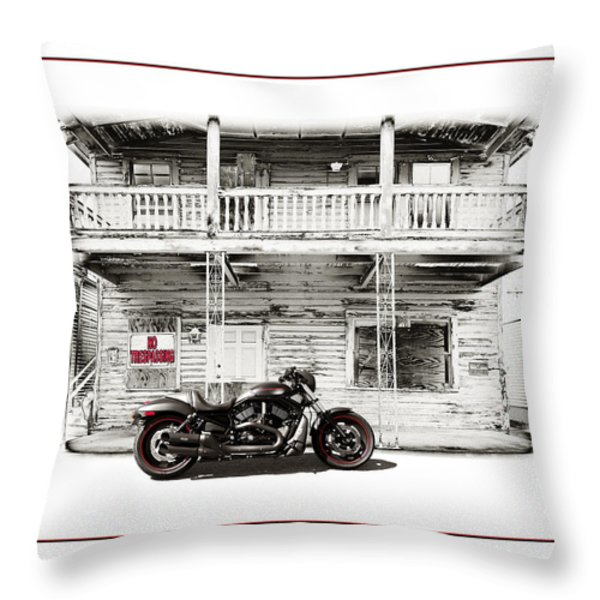 No Trespassing Throw Pillow by Mal Bray