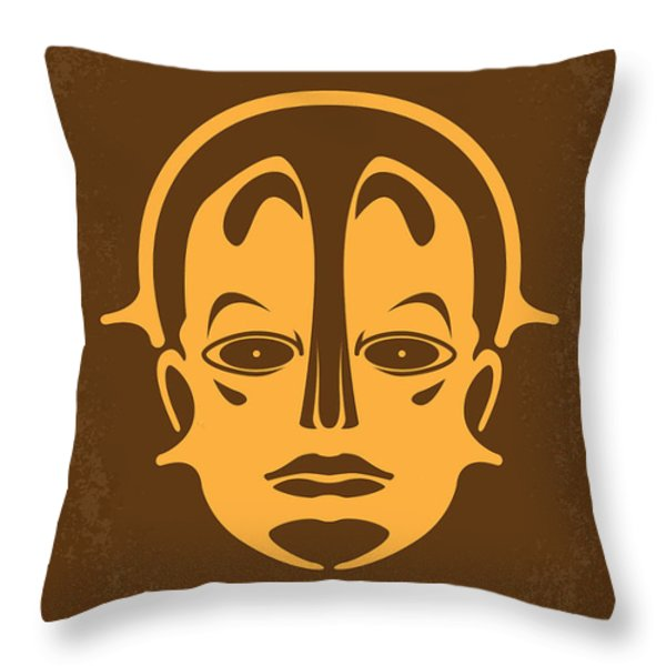 No052 My Metropolis Minimal Movie Poster Throw Pillow by Chungkong Art