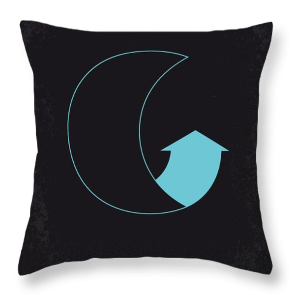 No053 My Moon 2009 minimal movie poster Throw Pillow by Chungkong Art