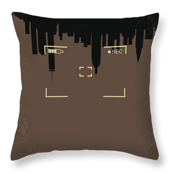 No203 My Cloverfield Minimal Movie Poster Throw Pillow by Chungkong Art