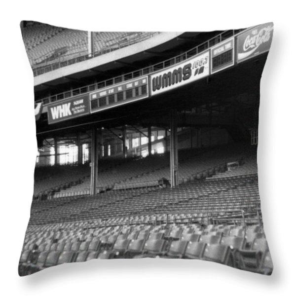Nobodys Home in Black and White Throw Pillow by Kenneth Krolikowski