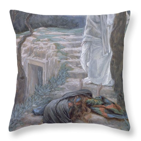 Noli Me Tangere Throw Pillow by Tissot