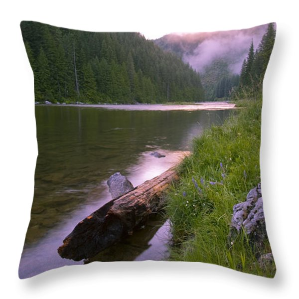 North Fork of the Clearwater Throw Pillow by Idaho Scenic Images Linda Lantzy
