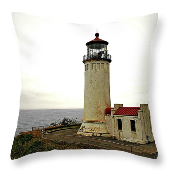 North Head Lighthouse - Graveyard Of The Pacific - Ilwaco Wa Throw Pillow by Christine Till