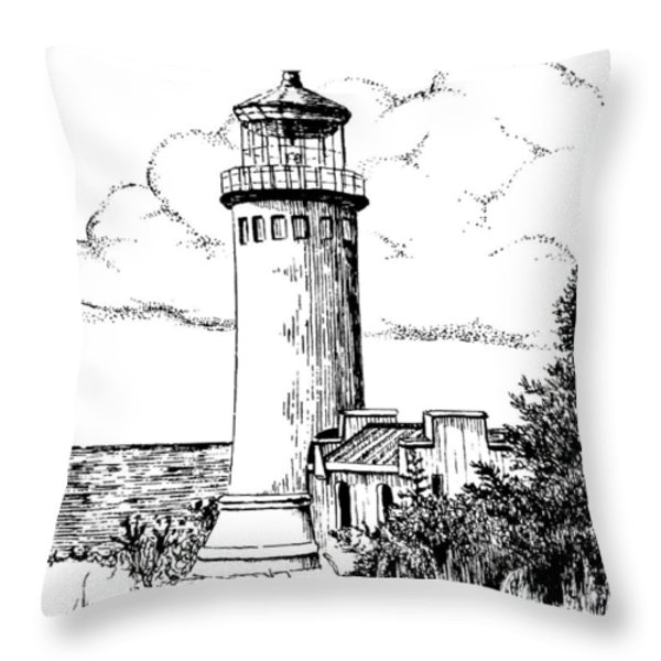North Head Lighthouse Throw Pillow by Lawrence Tripoli