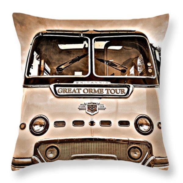 North Wales Nostalgia Throw Pillow by Meirion Matthias