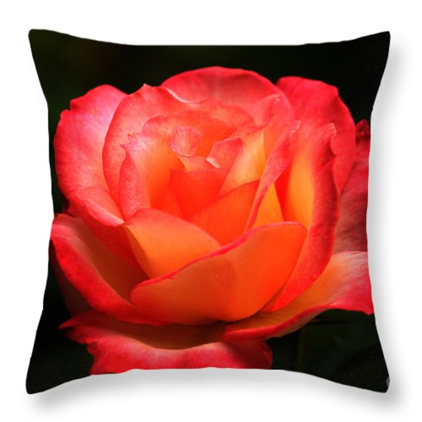 Not A Second Hand Rose Throw Pillow by James Eddy