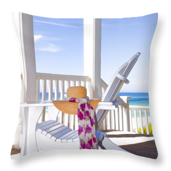 Nothing But Time Throw Pillow by Janet Fikar