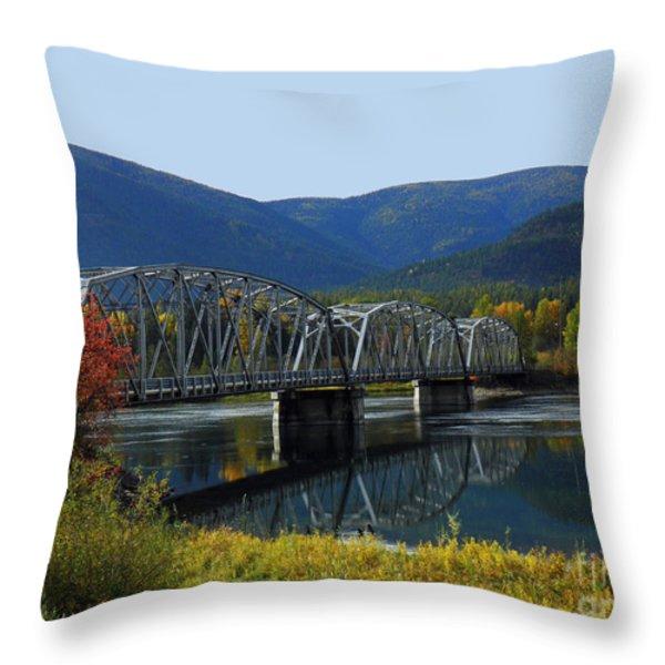 Noxon Bridge Throw Pillow by Tonya P Smith